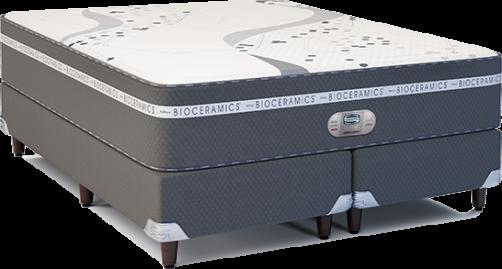 Cama Box com Colchão King Size Simmons Bioceramics Oxygen - 193x203