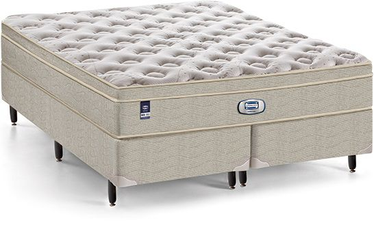 Cama Box Queen Size Com Colchão Simmons Plush Georgia 1,58x1,98