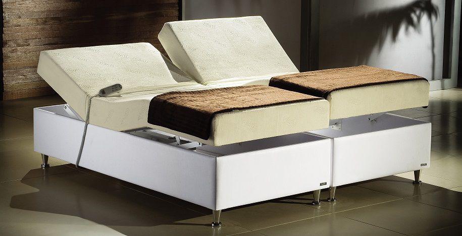 Cama Motorizada Pilati Centauro Casal 180cm (90 cm cada lado) Largura Cama Motorizada Bi Partida Branca 0,90x2,00
