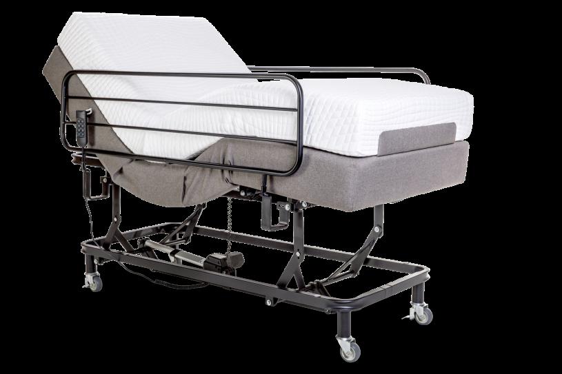 Cama Pilati Adjustable Elevação do Leito Com colchão 100 % Latex 0,89x1,98x0,19 Cm