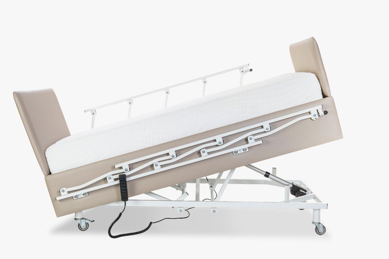 Cama Pilati Hospitalar Elétrica 5 Movimentos  Com Elevação C/ Cabeceira E Peseira