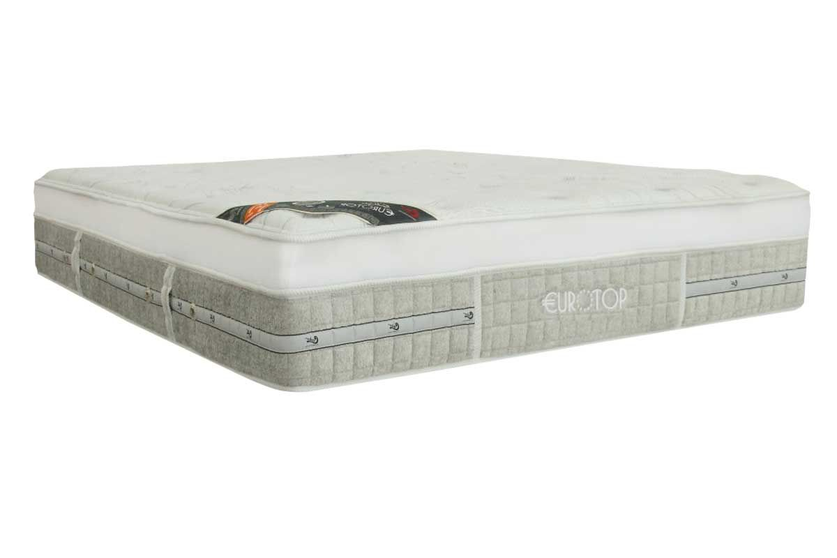 Colchão Castor Queen Gold Star Eurotop Summer & Winter Pocket Branco e Cinza 1,58x1,98x0,34 cm