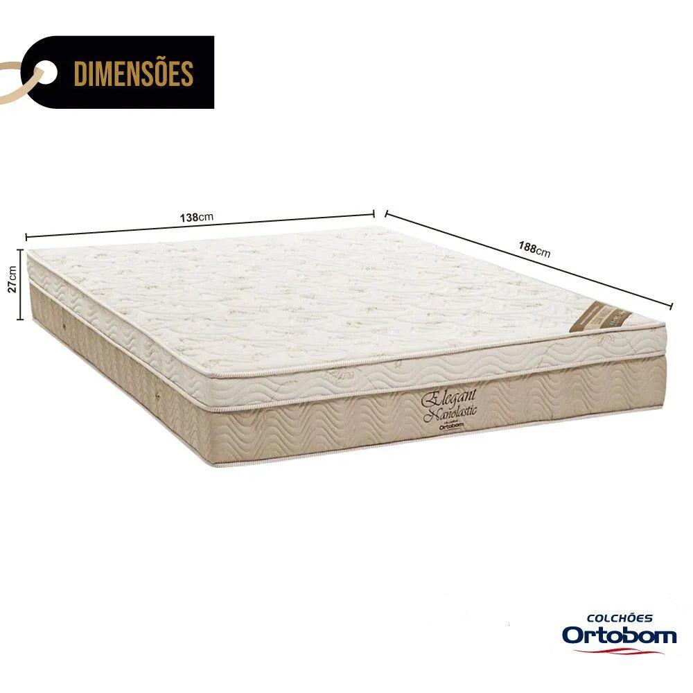 Colchão Ortobom De Molas Elegant Nanolastic Casal 1,38x1,88x0,27