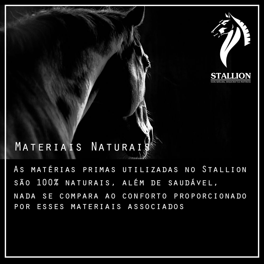 Colchão Pocket Stallion Shire Organic Cotton Conforto Ultraplush 40 Cm