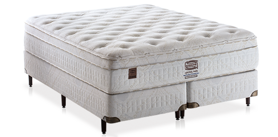 Cama Box Simmons + Colchão Simmons Central Park Plush 1,93x2,03