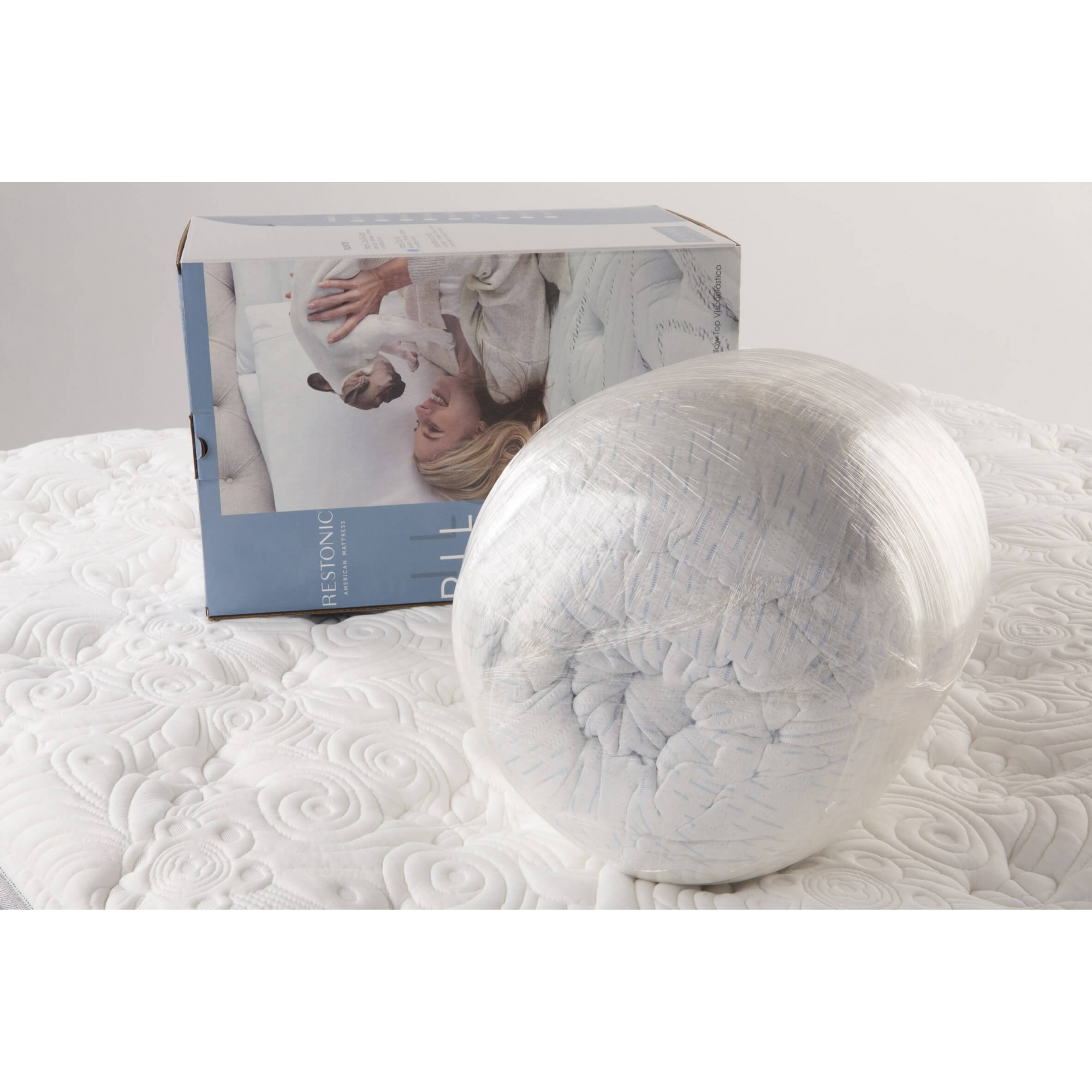 Pillow Top Restonic  Visco Coolgelpad Solteiro 0,88x1,88x4 Cm