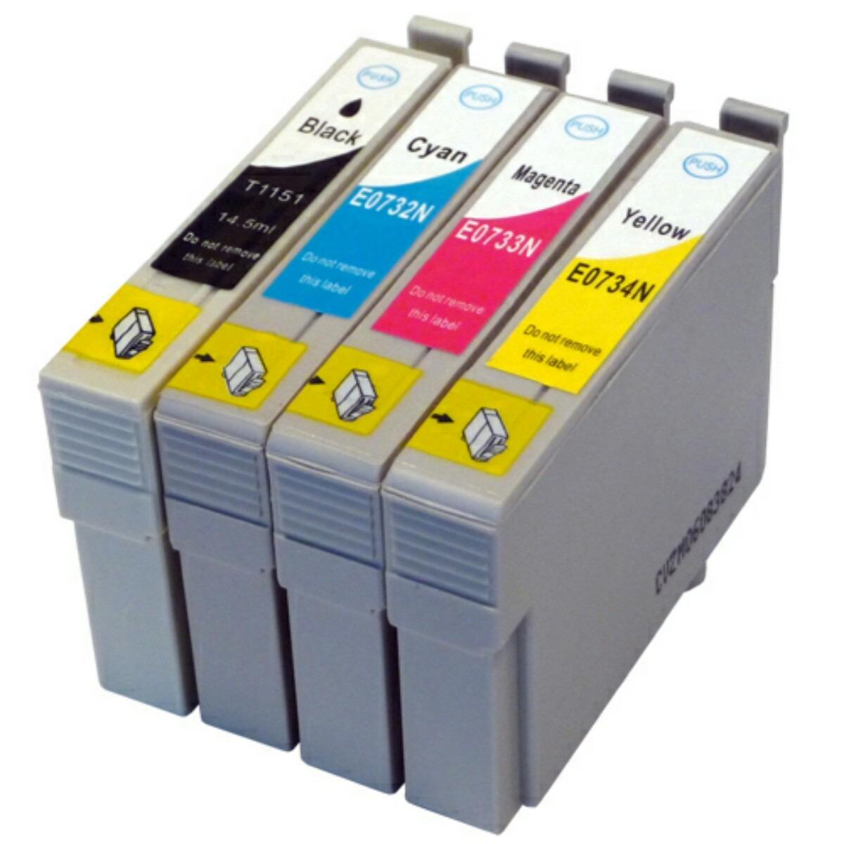 CARTUCHO C79 COMPATÍVEL KIT 4 CARTUCHOS C79 CX3900 3905 4900 4905 CX7300 CX9300 TX100 200