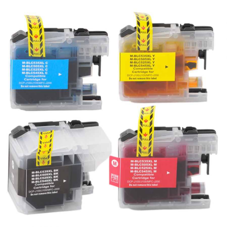 KIT 4 CARTUCHOS LC505 LC509 LC529XL LC539XL LC549XLBROTHER COMPATÍVEL