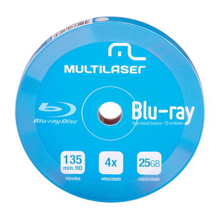 DVD-R BLU-RAY MULTILASER 4X SHIRINK PRINT BRANCO - DV057 C 10