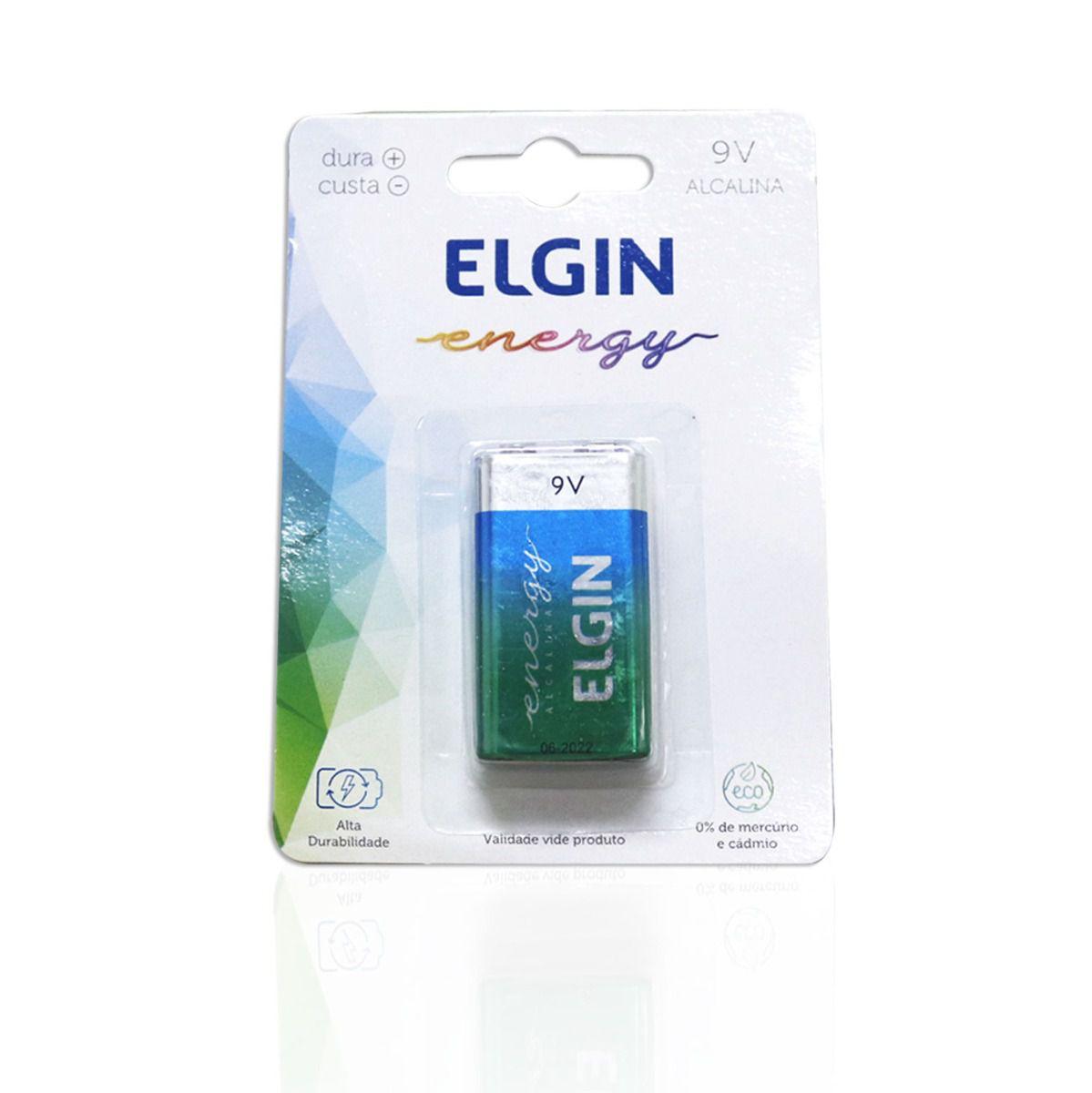 BATERIA 9V ELGIN ALCALINA ENERGY 6LR61 9V BLISTER 1 UN.
