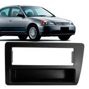 Moldura Painel 1 Din Honda Civic 2001 a 2006 Preta