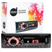 Rádio Automotivo Player Dazz Mp3 Player Usb Auxiliar Frontal