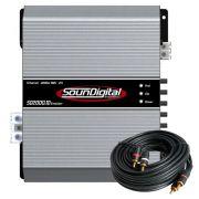 Módulo Amplificador Soundigital Evolution Sd2000.1D 1 Canal 2000W Rms 2 Ohms