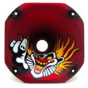Corneta Expansor Fiamon Curta Metalizada Fosca Palhaço Vermelho