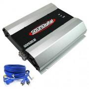 Módulo amplificador SounDigital SD2500.1D 1ohm + Brinde 1 Cabo RCA de 5m