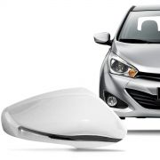 Aplique Cromado para Retrovisor Hyundai Hb20 2013 a 2015 com Pisca Lado Direito