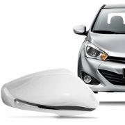 Aplique Cromado para Retrovisor Hyundai Hb20 2013 a 2015 com Pisca Lado Esquerdo