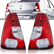 Lanterna Traseira Bicolor Renault Logan 2007 a 2010 Lado Esquerdo