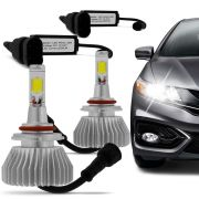 Kit Lâmpada Super Led Headlight HB3 9005 6000K 12V e 24V Efeito Xenon