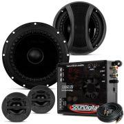 Kit Duas Vias Bomber 6 Pol 50W Rms 4 Ohms + Amplificador Soundigital Sd250.2D