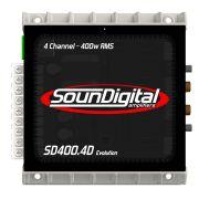 Módulo Amplificador Sondigital Evolution Sd400.4D 4 Canais 100W Rms 2 Ohms
