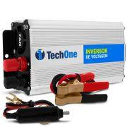 Inversor de Voltagem TechOne 800W 12V 220V Conversor Tomada Usb