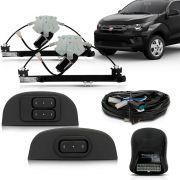 Kit Vidro Elétrico Dianteiro Sensorizado Fiat Mobi 4 Portas