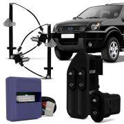 Kit Vidro Elétrico Dianteiro Sensorizado Ford Ecosport 4 Portas até 2007