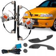 Kit Vidro Elétrico Dianteiro Sensorizado Fiat Palio Fire 4 Portas 2001