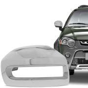Aplique Cromado para Retrovisor Fiat Palio Weekend Strada Idea Adventure Locker 2008 em diante Lado