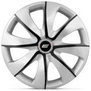 Calota Esportiva Prime Aro 14 Silver Graphite Encaixe Universal