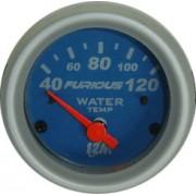 Rel�gio Temperatura da �gua 12M Furious 40-120�C 52mm 13.201 � Mostrador Azul Aro Prata Luz Vermelha