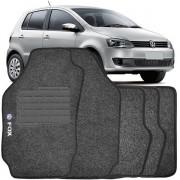 Tapete Automotivo Personalizado Carpete Vw Fox 04 até 12 Grafite Jogo 4 peças