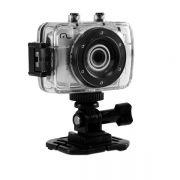 Câmera e Filmadora Digital HD Multilaser SportCam 14 MP Suporte Para Capacete e Bicicleta a Prova D'
