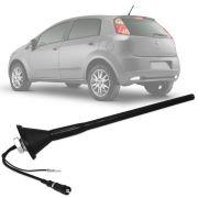 Antena Automotiva de Teto Amplificada Fiat Novo Palio Grand Siena Punto Linea Bravo 26 cm