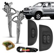 Kit Vidro Elétrico Dianteiro Sensorizado Toyota Hilux 2 e 4 Portas 2005 em diante