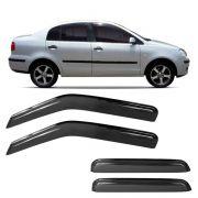 Calha de Chuva Acrílica Adesiva Volkswagen Polo Sedan – 4 portas