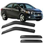 Calha de Chuva Acrílica Adesiva Chevrolet Sonic Hatch – 4 portas