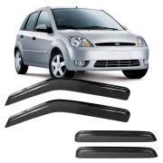 Calha de Chuva Acrílica Adesiva Ford Fiesta Amazon 2002 em diante 4 portas