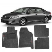 Tapete Automotivo Personalizado Carpete Corolla 09 Grafite Jogo 4 pe�as
