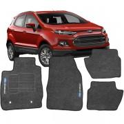Tapete Automotivo Personalizado Carpete Ecosport Grafite Jogo 4 pe�as