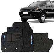 Tapete Automotivo Carpete Ford Ecosport em diante 4 Peças Grafite