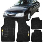 Tapete Automotivo Personalizado Carpete Omega Preto Jogo 4 peças