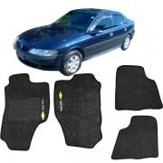 Tapete Automotivo Personalizado Carpete Vectra 97/00 preto Jogo 4 peças
