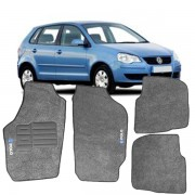 Tapete Automotivo Personalizado Carpete Polo 2002/2007 Grafite Jogo 4 pe�as