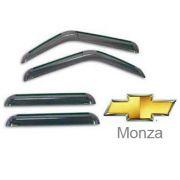Calha de Chuva Acrílica Marçon Adesiva Chevrolet Monza Tubarão 4 Portas GM057