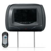 Encosto de Cabe�a Kx3 Tela 7 Pol Leitor de DVD USB SD Card Grafite com Ziper DVD830