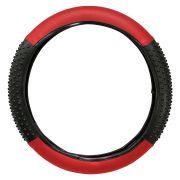 Capa de Volante Universal Massageadora Preto com Vermelho