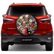 Capa para Estepe Joaninha Ecosport CrossFox 2005 a 2017 AirCross 2011 a 2017 Spin Activ 2015 a 2017