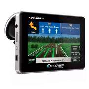 GPS Automotivo Discovery Channel Tela 4.3 Slim Touch Screen com TV Digital
